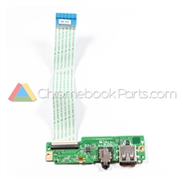 Acer 11 C738T Chromebook USB Audio Daughterboard - 55.G55N7.002