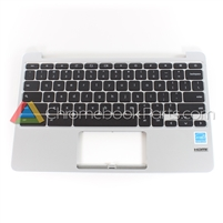 Asus 11 C201PA Chromebook Palmrest, Silver, no touchpad - 90NL0912-R31US0