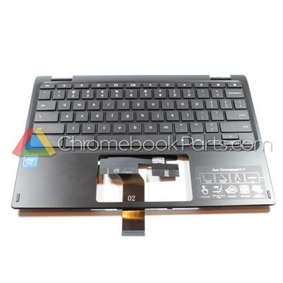 Acer 11 C738T Chromebook Palmrest Assembly w/ Keyboard Only - 6B.G55N7.016