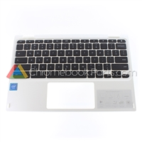 Acer 11 CB5-132T Chromebook Palmrest Assembly w/ Keyboard Only, White - 6B.G54N7.016