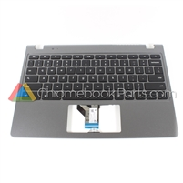 Acer 11 C720P Chromebook Palmrest Assembly w/ Keyboard Only, Gray - 60.SHEN7.006