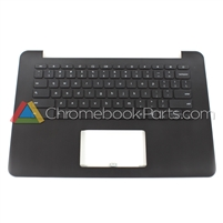 Asus 13 C300 Chromebook Palmrest Assembly w/ Keyboard only (No touchpad), Black - 13NB05W1AP0301