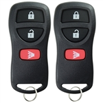 2 New Keyless Entry Remote Control Car Key Fob Replacement for KBRASTU15 3BTN