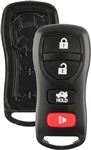 New Just the Case Keyless Entry Remote Control Key Fob Shell Replacement for KBRASTU15 4BTN