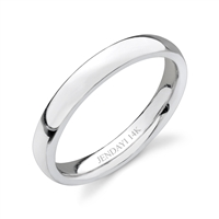 Simply Yours- Domed Wedding Band in 14k white gold-3mm