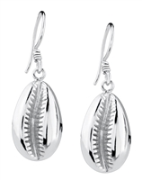 Jacqueline Silver Cowry Shell Drops large