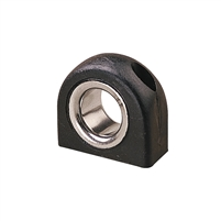 FAIRLEAD, BLACK, STAINLESS INSERT