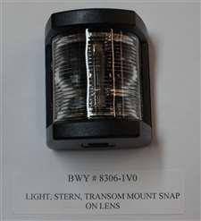 LIGHT, STERN, TRANSOM MOUNT SNAP ON LENS