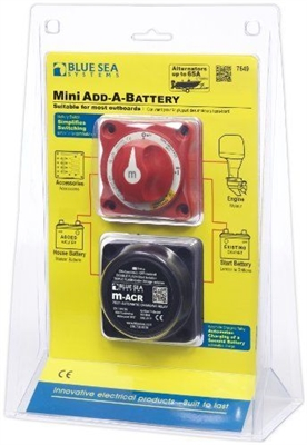 """ADD-A-BATTERY"" KIT, AUTOMATIC CHARGING RELAY & SWITCH"