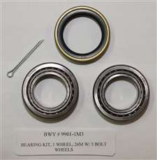 BEARING KIT, 1 WHEEL, 26M W/ 5 BOLT WHEELS
