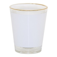1.5 oz Gold Rim Shot Glass - Individual