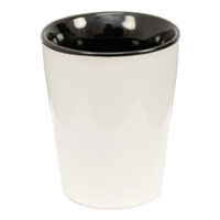 Two Tone Ceramic Shot Glass - Black - 12pcs/pk