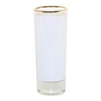 2.5 oz Glass Shooter w/Gold Rim - Sold by dozen