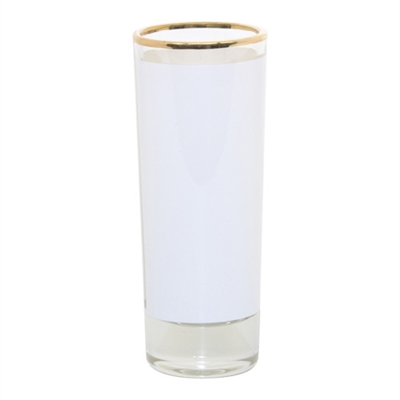 2.5 oz Glass Shooter w/Gold Rim