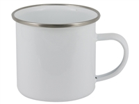 12 oz White Camper Mug