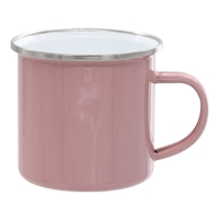12 oz. Pink Camper Mug with Silver Lip