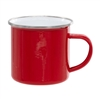 12 oz. Red Camper Mug with Silver Lip