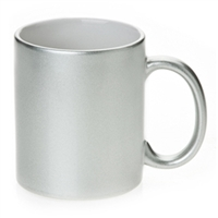 Silver Metallic 11oz Mug - Sold by dozen