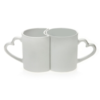11 oz.  White Love Mugs
