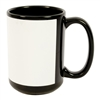 Black Mug 15oz  - White Patch - Orca