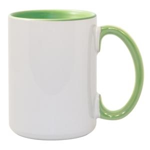 15 oz. Inner/Handle Light Green Orca Mugs