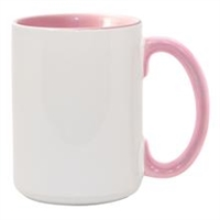 15 oz. Inner/Handle Pink Orca Mugs