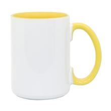15 oz. Inner/Handle Yellow Orca Mugs
