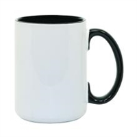 15 oz. Inner/Handle Black Orca Mugs