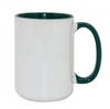 15 oz. Inner/Handle Green Orca Mugs