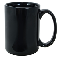 15 oz. Full Color Mug - Black