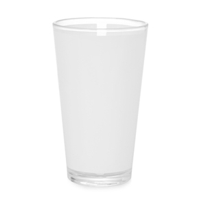 Sublimation Pint Glass with White Patch