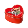 Metal Candle Tin - Heart - Red