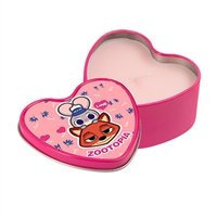 Metal Candle Tin - Heart - Pink