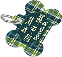 Unisub Pet Tag - Dog Bone 2 Sided