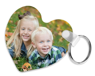 Unisub FRP Keychain - Heart 2 Sided