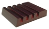 Unisub Slotted Mahogany Coaster Holder