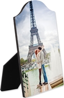 "ARCH TOP PHOTO PANEL with EASEL - 5"" x 7"" - 0.25""Thickness"