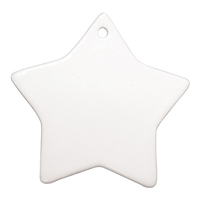 "Ceramic Ornament - 3"" Star"