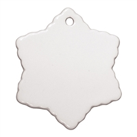 "Ceramic Ornament - 3"" Snowflake"