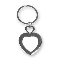 Sublimation Key Chain - Double Heart