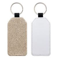 Fashion Sparkle Keychain - Champagne Rectangle (PU)