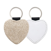 Fashion Sparkle Keychain - Champagne Heart (PU)