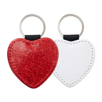 Fashion Sparkle Keychain - Red Heart (PU)
