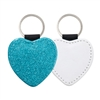 Fashion Sparkle Keychain - Blue Heart (PU)