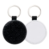 Fashion Sparkle Keychain - Black Circle (PU)