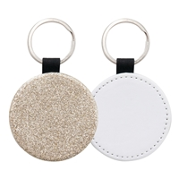 Fashion Sparkle Keychain - Champagne Circle (PU)