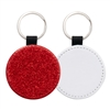 Fashion Sparkle Keychain - Red Circle (PU)