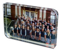 "Sublimation Crystal  - 2 1/4"" x 3 1/8"" rounded"