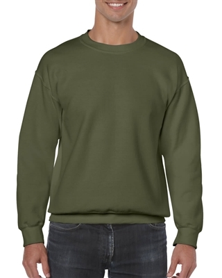 Gildan Crewneck Sweatshirt Hunter Green Size S