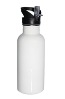 Straw-Top Water Bottle - White